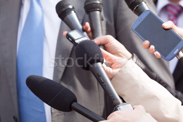 Press interview. News conference. Stock photo © wellphoto