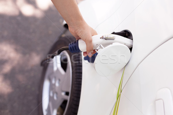 Charging battery of an electric car Stock photo © wellphoto