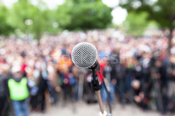 Political protest. Public demonstration. Stock photo © wellphoto