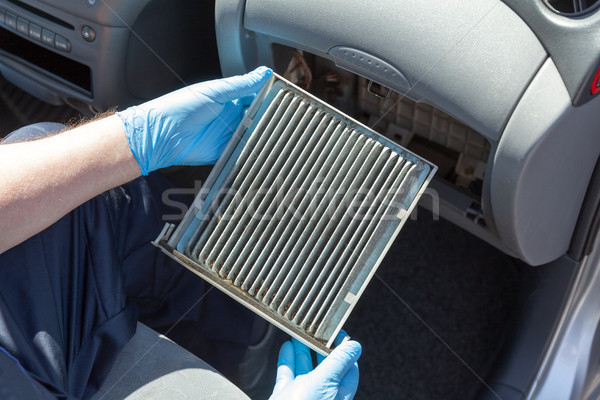Dirty cabin air filter for car Stock photo © wellphoto