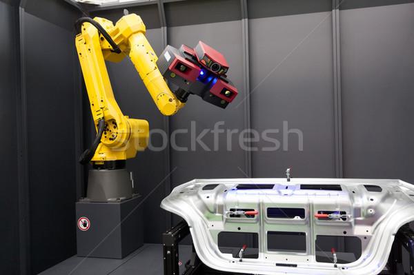 Robotikus kar 3D szkenner optikai mér Stock fotó © wellphoto