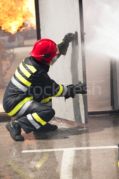 Firefighter Stock photo © wellphoto