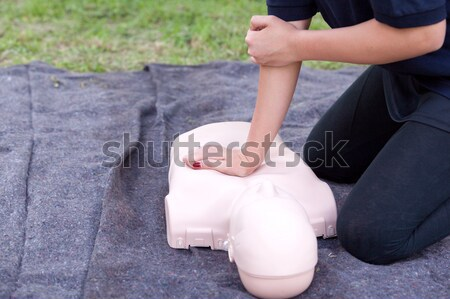 Arm letsel werk ongeval werkplek eerste hulp Stockfoto © wellphoto