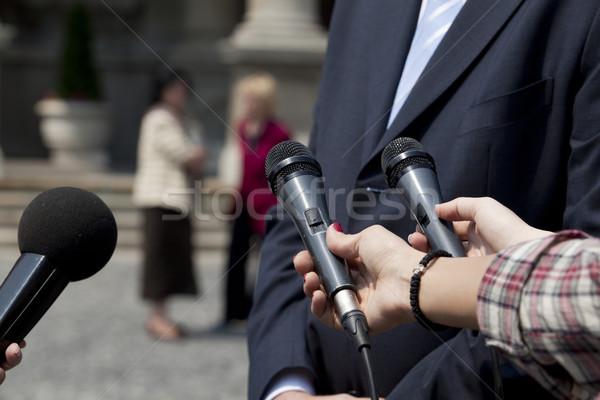 Microphones Stock photo © wellphoto