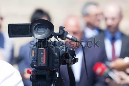 Filmadora evento televisão notícia comunicação imprensa Foto stock © wellphoto
