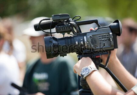Evenement videocamera nieuws communicatie informatie media Stockfoto © wellphoto