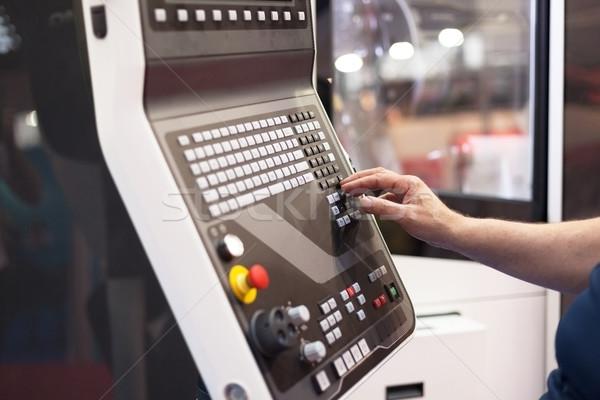 Man working at programmable machine  Stock photo © wellphoto