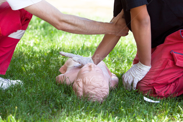 First aid training. CPR. Stock photo © wellphoto