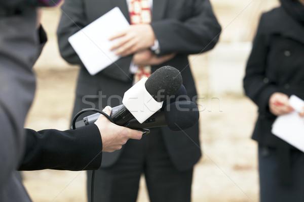 Media interview Stock photo © wellphoto