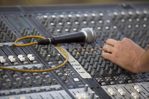Geluid boord muziek handen partij concert Stockfoto © wellphoto