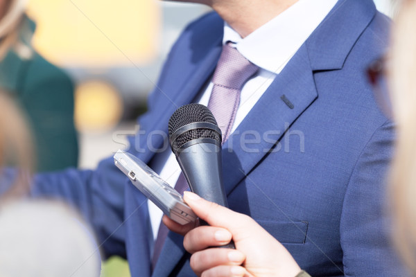 Press or media interview Stock photo © wellphoto