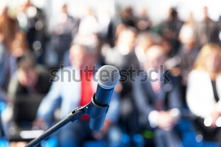 News conference. Spokesperson. Stock photo © wellphoto