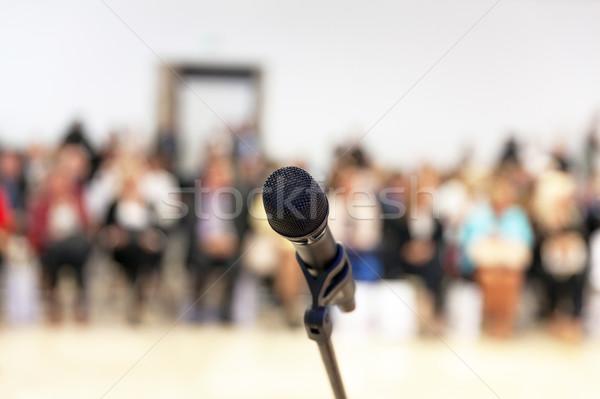 Tanıtım kamu mikrofon odak bulanık Stok fotoğraf © wellphoto