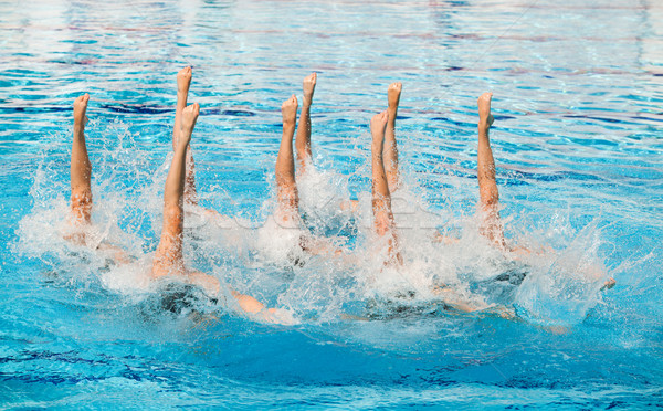Synchronized swimming Stock photo © wellphoto