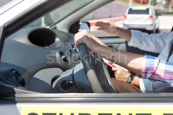 Student driver. Learning to drive a car. Stock photo © wellphoto