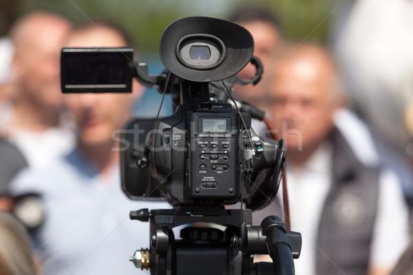 СМИ события видеокамерой Новости конференции интервью Сток-фото © wellphoto
