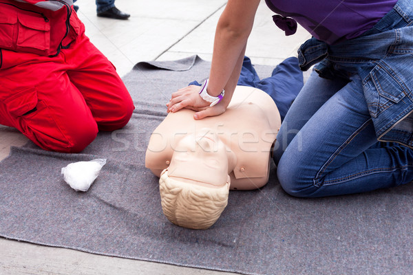 CPR. First aid. Stock photo © wellphoto