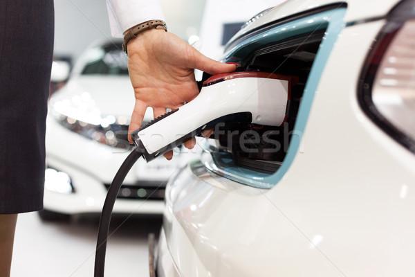 Batterie voiture électrique électriques véhicule voiture pouvoir Photo stock © wellphoto