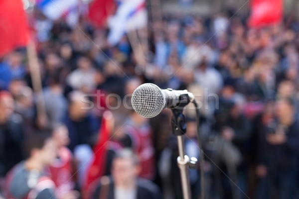 Protest. Public demonstration. Stock photo © wellphoto