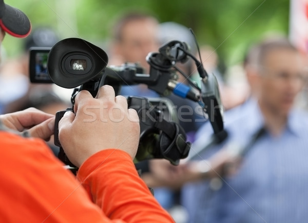 News conferenza media evento videocamera televisione Foto d'archivio © wellphoto