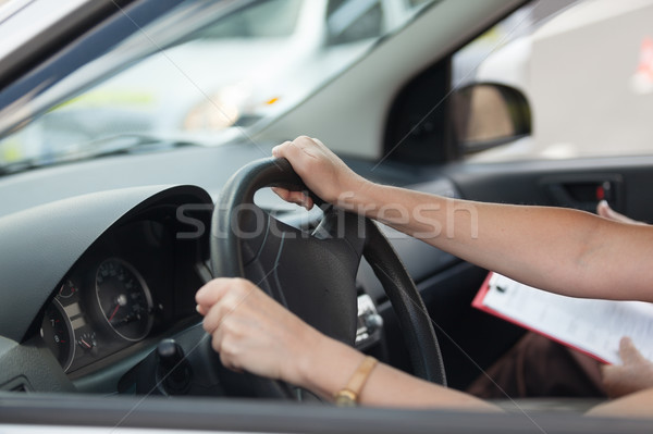 Learning to drive a car Stock photo © wellphoto