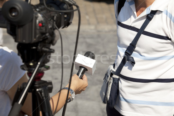 Stock photo: TV interview