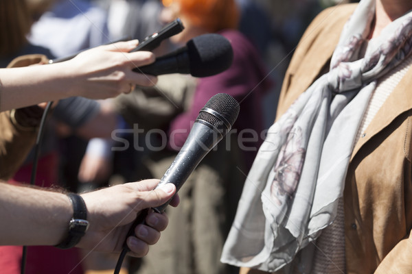 Media interview. News conference. Stock photo © wellphoto