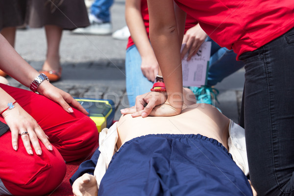 CPR. First aid training. Stock photo © wellphoto