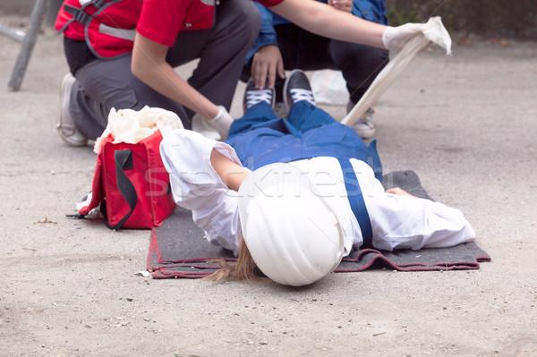 Pronto soccorso lavoro incidente lavoro mano medicina Foto d'archivio © wellphoto