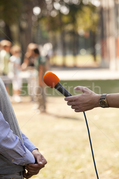 Stock photo: Media interview