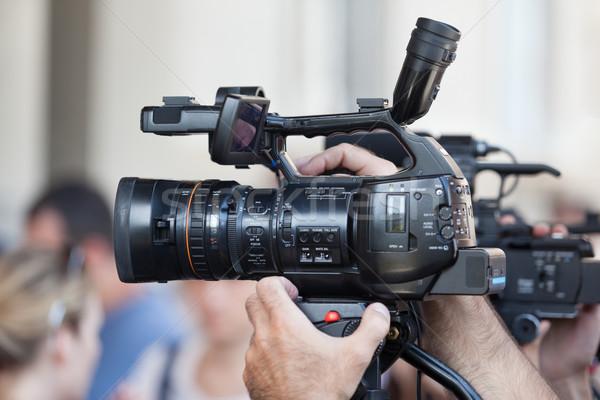 видеокамерой события стороны телевидение фильма технологий Сток-фото © wellphoto