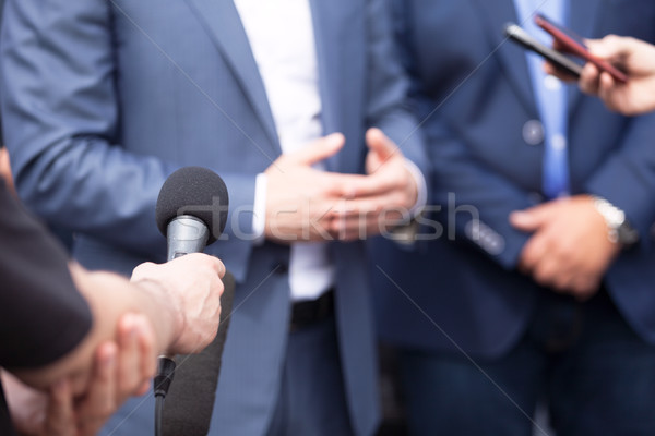 News conference. Media interview. Spokesman. Stock photo © wellphoto