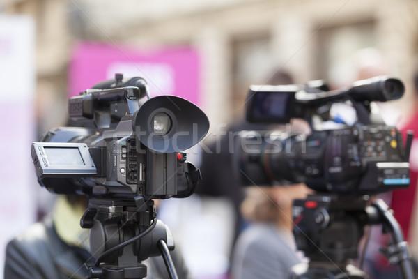 Stock photo: Video camera