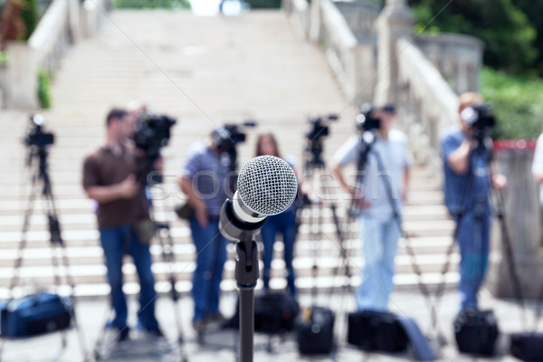 Press conference. Journalism. Stock photo © wellphoto