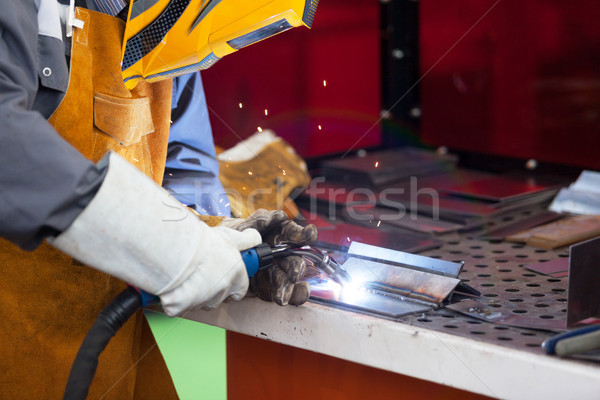 Lavoro saldatura lavoratore maschera metal Foto d'archivio © wellphoto