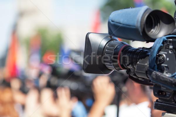 Evento filmadora tiroteio trabalhando conferência comunicação Foto stock © wellphoto