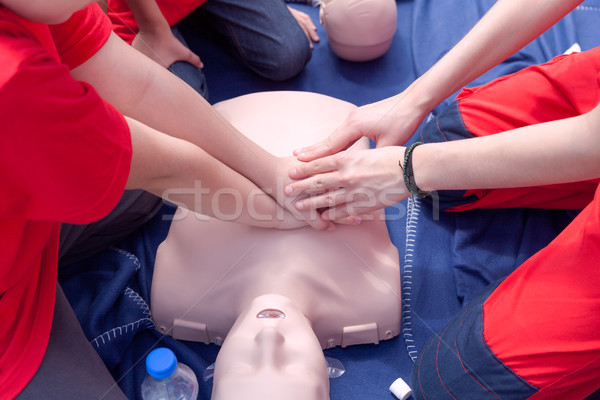 First aid course Stock photo © wellphoto