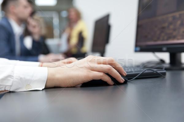 Mulher oficina feminino mão Foto stock © wellphoto