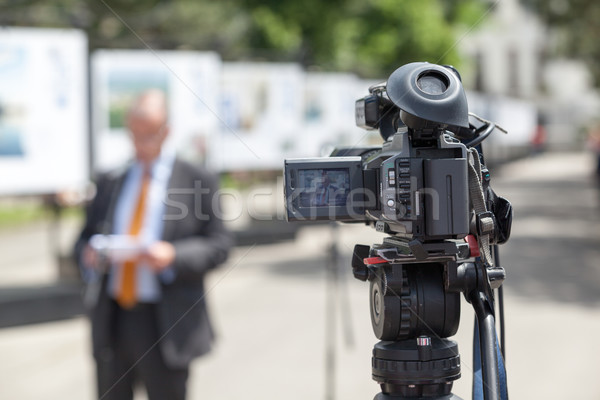 Press conference. Spokesperson. Stock photo © wellphoto