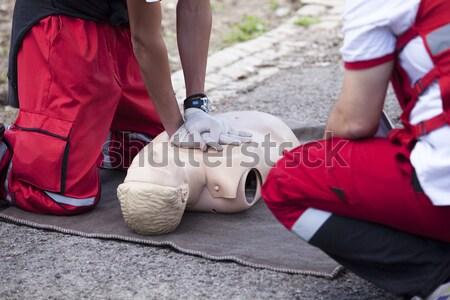 Eerste hulp opleiding paramedicus arts gezondheid Stockfoto © wellphoto