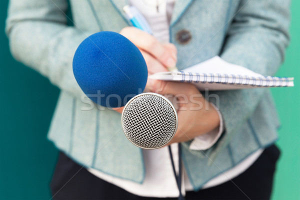 Journalist at media event. News conference. Stock photo © wellphoto