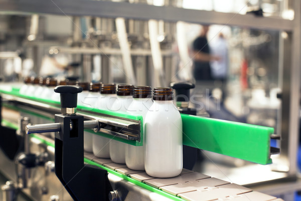 Stock photo: Bottling line