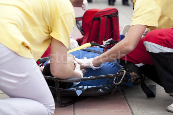Pronto soccorso formazione fasciatura mano Foto d'archivio © wellphoto
