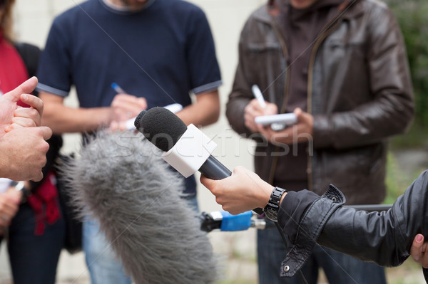 Media interview. Journalists. Stock photo © wellphoto