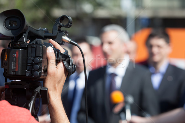 News evento videocamera conferenza tv broadcasting Foto d'archivio © wellphoto