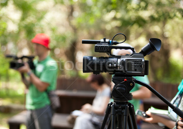 Caméra vidéo événement nature technologie vidéo médias Photo stock © wellphoto