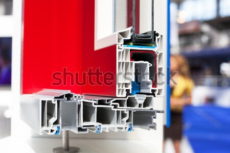 PVC (unplasticized polyvinyl chloride) window or door profile  Stock photo © wellphoto