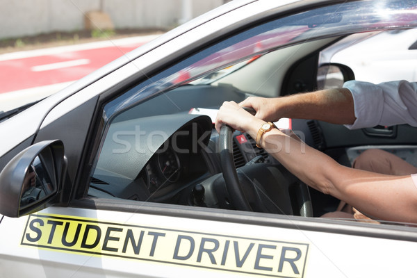 Driving school. Learning to drive a car. Stock photo © wellphoto