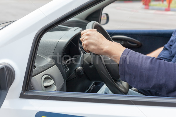 Learner driver driving car with instructor Stock photo © wellphoto