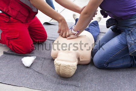 CPR practice on dummy Stock photo © wellphoto